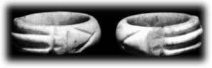 Inelul luxor original realizat din piatra